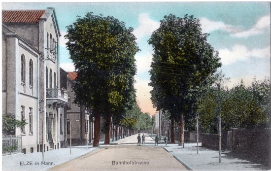 Bahnhofstraße Elze 1906