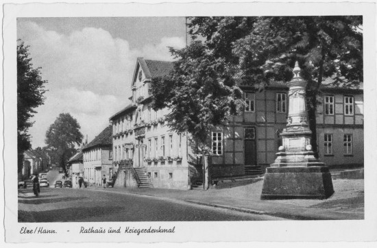 Rathaus Denkmal Hauptstraße Elze