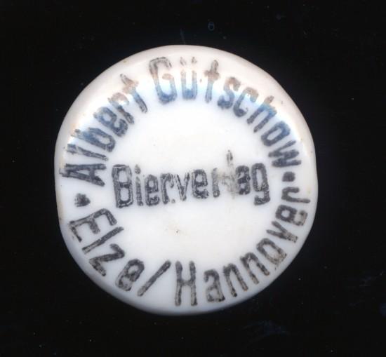 Bügelverschluss Bierflasche Albert Gütschow Elze