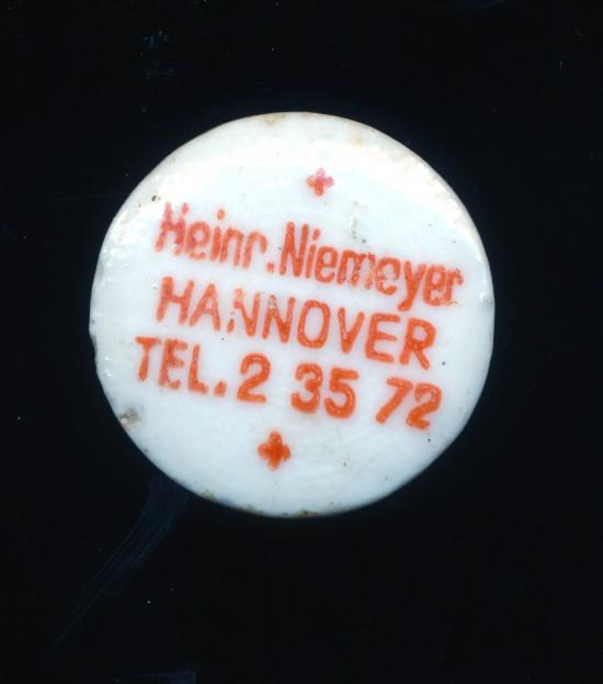 Bügelverschluss Heinrich Niemeyer Hannover