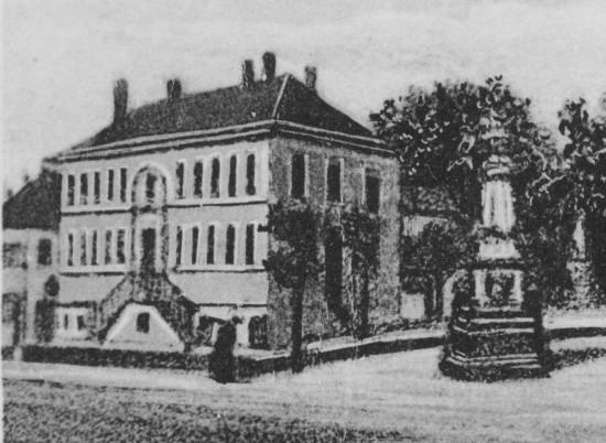 Ansichtskarte Elze Rathaus abgestempelt 1905
