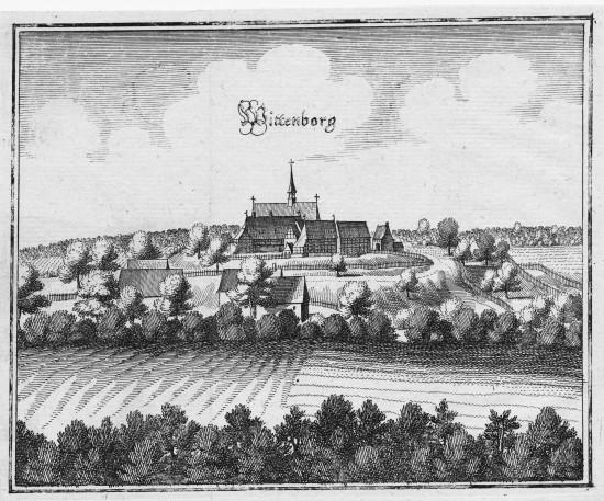Wittenburg von Süden Merian 1654