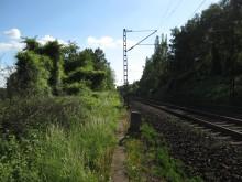 Eisenbahnstrecke bei Elze Höhe Teufelsberg STein Nr 30 9