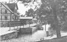 Elze Saaledamm um 1910 links: Gärtnerei Bruns