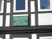 Geburtshaus von Prof. Dr. Louis Krüger Elze, Geodät, Gauß-Krüger-Projektion