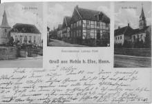 Mehle bei Elze von 1917, Urbanuskirche Mehle Marienkirche Elze