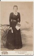 Portrait Frau um 1900, Fotograf Otto Nickolai Elze
