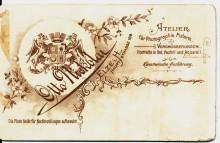 Rückseite mit Visitenkarte Otto Nickolai Elze