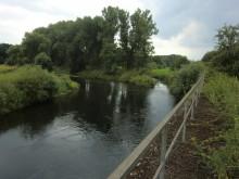 Saale Mündung in die Leine