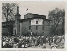Nazi Aufmarsch um 1936,Elze, vor Fabrik Hagen