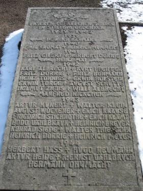 Denkmal Zweiter Weltkrieg Mehle Alte Poststraße Urbanus Kirche