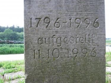 Grenzstein Dreiämterstein Elze Kendelke 1796