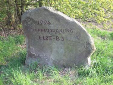 Flurneuordnung Stein 1994 mit der Seite nach Osten